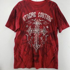 NWOT Affliction Extreme Couture with silver foil